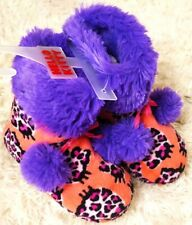 HELLO KITTY SANRIO GIRLS BOOT SLIPPERS ANIMAL PLUSH PINK POM POM FAUX FUR SZ13/1