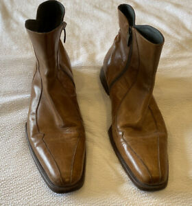 Oliver Sweeney Tan Zipped Boot Size 9.5