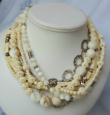 MIMCO*EXOTIC-TRIBAL-DESIGN*MULTI STAND BEAD NECKLACE*EXQUISITE*STUNNING*RARE*
