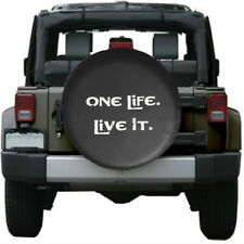 Soft Leather Spare Wheel Tire Cover Fit Jeep Wrangler SUZUKI One Life Live It