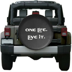 One Life Live It Soft Leather Spare Wheel Tire Cover For Jeep Wrangler JK 07-18
