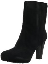 NEW in BOX Nine West PERUSHA BLACK SUEDE Mid Calf Bootie Boots US 12M MSRP $139