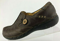 Clarks Unstructured Un.Loop Loafer Shoes Brown Leather Comfort Womens Size 7.5 M