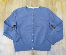 Boden LADIES FABULOUS Cashmere Crop Crew Charcoal Cardigan. UK Size 10. WU003