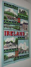 Tea Towel Linen Ireland Irish Attractions Shamrock Bridge Church Cork Dublin.