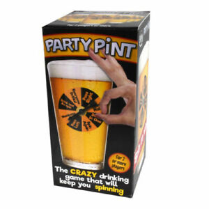 Party Pint Beer Glass Novelty Drinking Game Secret Santa Christmas Gift For Him