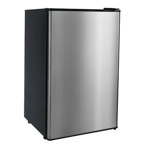 RV Refrigerator Stainless Steel 3.3 Cubic Feet 12V Camper Fridge Low Power Draw