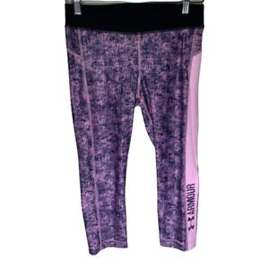 Under Armour Womens Leggings Size Medium Purple Compression Heatgear Activewear