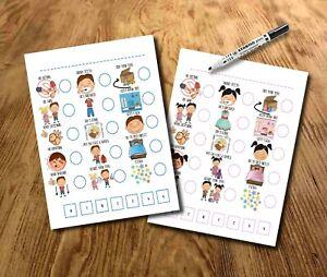 Kids routine planner, toddler chart, Reward Chart SEN, Autism, ADHD, pictures