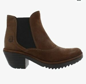 FLY LONDON Women's Chelsea Boots WOTE Brown SIZE 6.5 EUR 37 NEW IN BOX