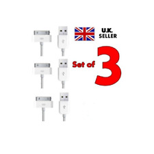 3 Genuine Charging Cable Charger Lead for Apple iPhone 4,4S,3GS,iPod,iPad2&1