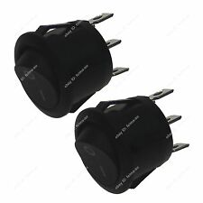 2pcs Mini 3 Pin Terminals ON-OFF Round Shaped Rocker Switch for car Boat