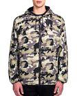 NEW Givenchy Mens Digital Pixel Camo Bomber Hooded Jacket- Khaki - Size 50 $1875