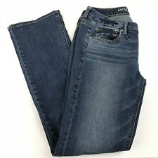 American Eagle Womens Jeans Size 4 LONG Vintage Bootcut Dark Wash Blue Denim