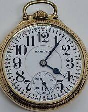 Vintage 1932 HAMILTON 974 Special 10K G.F. Montgomery Dial 17J RR Pocket Watch