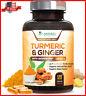 Turmeric Curcumin with Ginger 95% Curcuminoids 1950mg Bioperine Black Pepper New