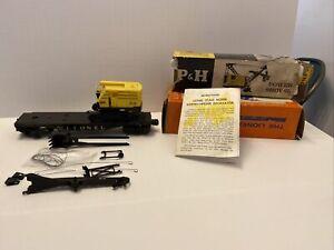 Lionel 6827-100 Harnischfeger Power Shovel & 6827 Flat Car Instr. + Box