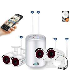 Security Camera System Wireless,Full HD 4CH 1080P Wireless Video 1TB HDD