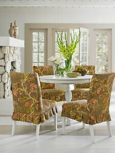 Sure fit floral Casablanca rose dining Dining Room Chair Slipcover NEW washable