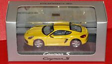Minichamps Porsche Cayman S neuf boite  jaune intérieur gris