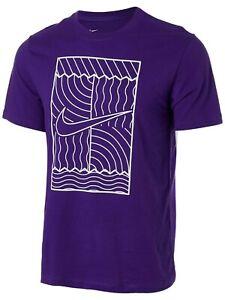 $30 NIKE Court Men's Purple Tennis Swoosh Standard Fit Tee - DC5246-547 - L