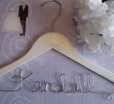 Set of 2 Personalized Custom Wood Wedding Hangers Great Gift