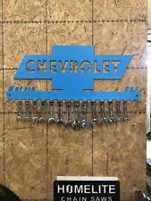 Chevy Wrench organizer hanger or keys Plasma cut Man Cave Wall Decor Metal Art