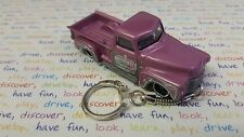 Diecast 52 Chevy Chevrolet Pink Pick Up Toy Car Keyring Keychain
