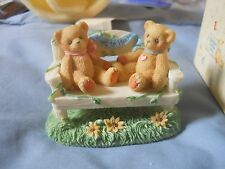 Cherished Teddies Crt240 2 Bear on Bench 1996 Event Figurine New in Box