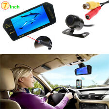 "Bluetooth MP5 7"" LCD Car Rearview Mirror Monitor +Vehicle Reverse Backup Camera"