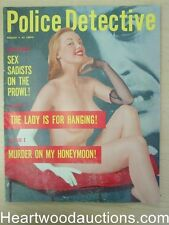 """""""Police Detective"""" August 1957 Pin Up Cover"""