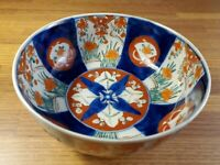 Imari Hand Painted Porcelain Vintage serving bowl 7 inches wide