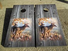 Whitetail Bucks On Weathered Wood Corn Hole Boards - Bean Bag Toss Game