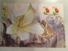 29 Cent Flower Stamp 1992 FDC First Day Cover 3/3/92 NY Postmark White 2x