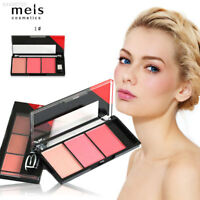 EB85 3 Colors Blusher Long Lasting Makeup Natural Blush Palette