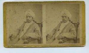 Indian Man - Royal ? Politician ? c1860s Stereoview