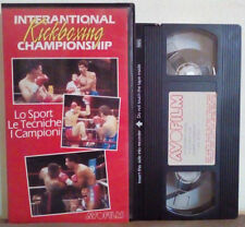 VHS Italiano Documentario INTERNATIONAL KICKBOXING CHAMPIONSHIP no dvd(VH29)