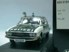 WOW EXTREMELY RARE Audi 100 C1 1.9L I4 Saloon 1969 Polizei Ingol 1:43 Minichamps