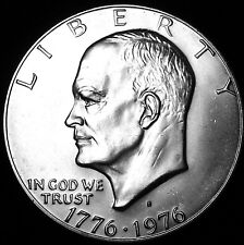 """1976-S Eisenhower Dollar 40% Silver US Coin """"IMPERFECT DISCOUNTED"""" IKE"""
