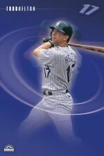 TODD HELTON ~ SWING 22x34 POSTER Colorado Rockies MLB Baseball