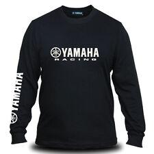 Genuine Yamaha Racing Logo Motorcycle Streetwear Black Long Sleeve Tee T-Shirt