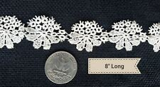 A15 Antique Flower Tatting Trim Trims Embellishment Remnant Sewing Doll Cothes