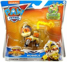 New PAW PATROL Nickelodeon Mighty Pups Super Paws EXCLUSIVE RUBBLE USA Seller
