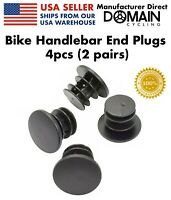 4pcs(2 Pairs) Bike Handlebar End Plugs, Bicycle Grip Bar Caps - Domain Cycling