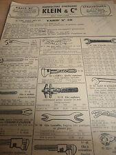 catalogue d'outillages clé ,pince , lampe a souder , marteaux , rabot ( ref 4 )