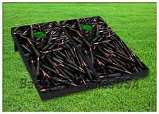 VINYL WRAPS Cornhole Boards DECALS Shotgun Pistol Bullets Toss Game Stickers 132