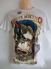 Shiroi Neko Minute Mirth T Shirt Skull Rave Raabe Gr.M Farbe Weiss-MC24