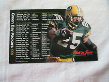 1999 GREEN BAY PACKERS NFL MAGNETIC SCHEDULE  Sponsored by Miller Lite 4 x6