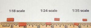 """LOT of 100 red bricks 1;18 SCALE DIORAMA (EACH 1/2'' x 1/4""""x 1/8'')"""