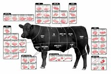 "Cattle Butcher Chart Beef Cuts Diagram Meat Mini Poster 11""x17"""